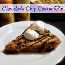 Chocolate Chip Cookie Pie #recipe #dessert #sweettreats # ...