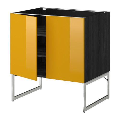 Ideas De Habitaciones Juveniles Ikea ~  wood effect black, Järsta high gloss yellow, 80x60x60 cm  IKEA