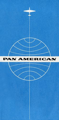Pan American World Airways: Classic PanAm ticket jacket, circa 1960