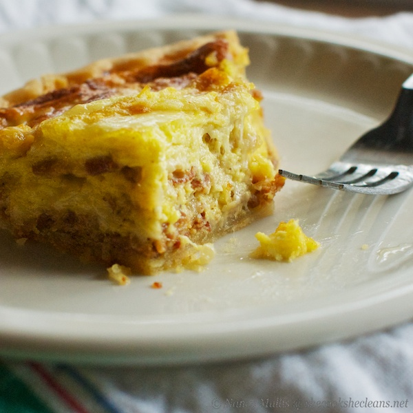 Sunday Morning Bacon and Swiss Quiche | she cooks…he cleans