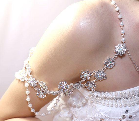 bridal wedding bra halter jewelry rhinestone