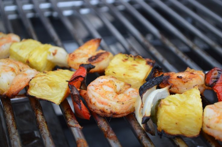 shrimp + pineapple skewers | bake and make | Pinterest