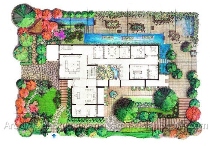 Sample site plan residential landscaping plans pinterest for Zen garden designs plan