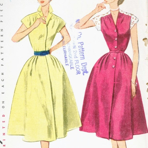 Vintage 1950's Misses' Dress Pattern Full by CottageLaneTreasures, $12.00