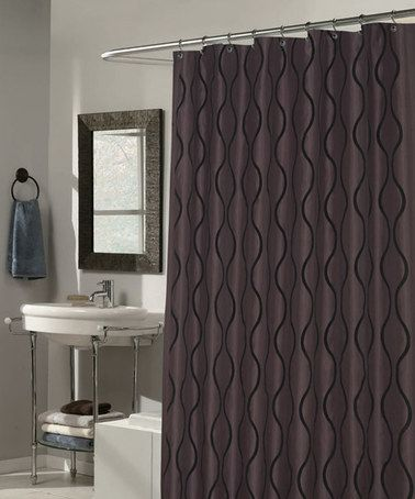 Black Brown Geneva Shower Curtain