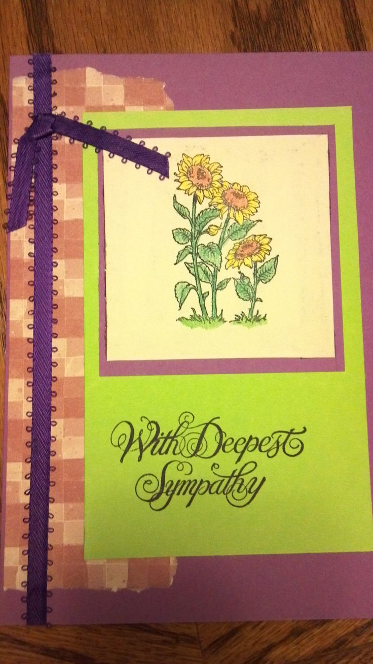 Sympathy sunflower card stephanie s made stampin amp etc cards pint