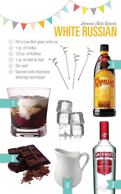winter... White Russian: 1-1.5 ounces vodka, 3/4 ounces Kahlua or ...