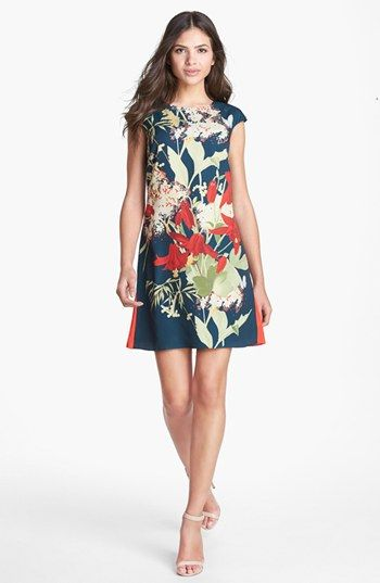 Ted Baker London 'Fortys Bloom' Print Shift Dress   Nordstrom