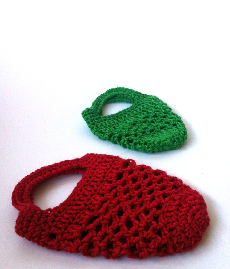 Mini Crochet Bag : Mini - gift bags - free crochet pattern Crochet Bags, Baskets and M ...