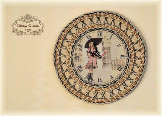Плетеные часы свои руками 6