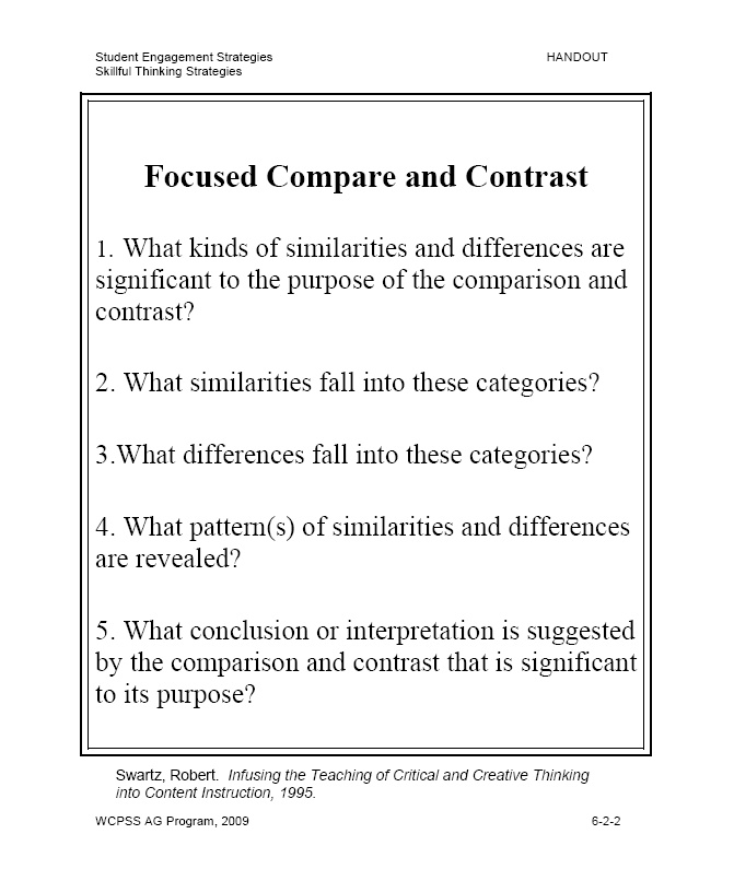 Compare and contrast essay title
