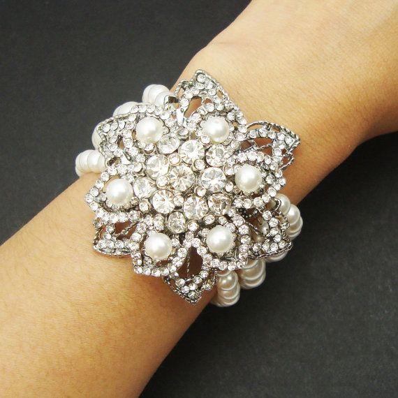 Rhinestone wedding bracelet crystal bridal wedding bracelet