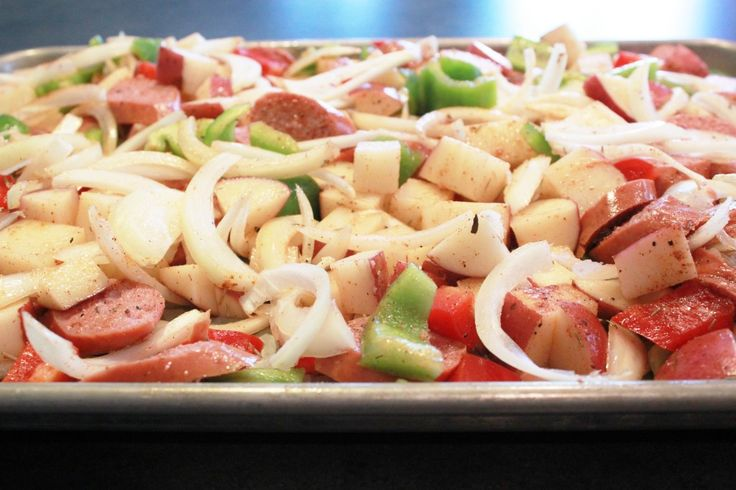 Roasted Potatoes, Sausage and Peppers | Meat Dishes | Pinterest