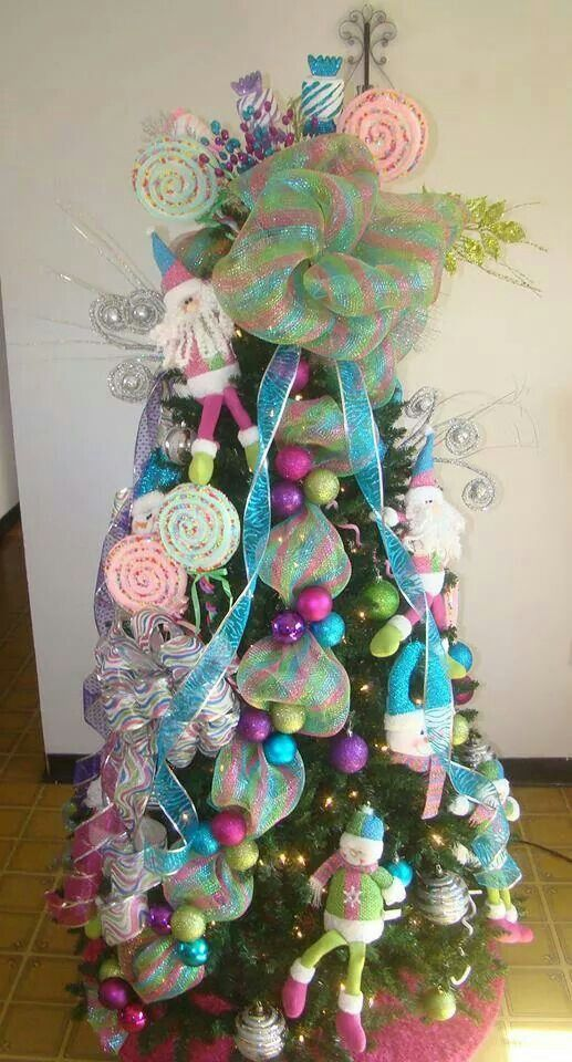 Candy land christmas tree holiday decorations pinterest for Candy xmas tree decoration