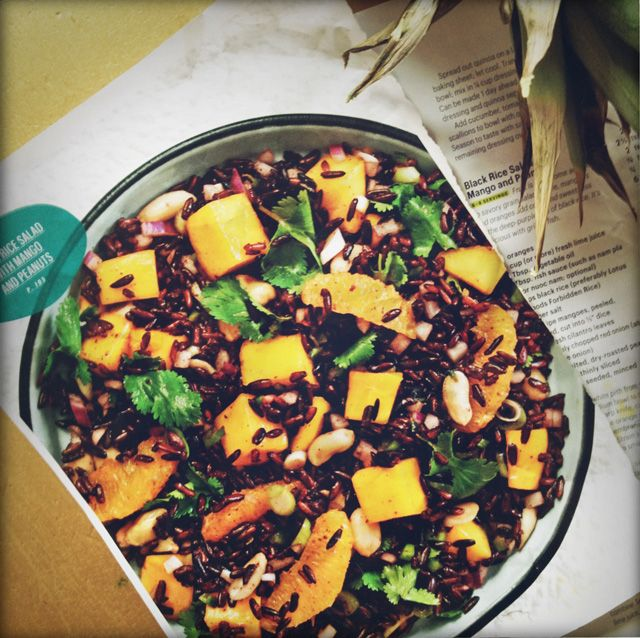 BLACK RICE SALAD w/ MANGO & PEANUTS, from june 2012 bon appetit ...