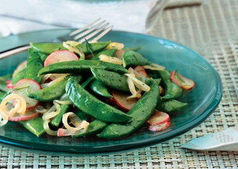 Sautéed Radishes and Sugar Snap Peas with Dill | Recipe