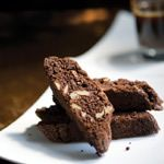 Double Dark Chocolate and Ginger Biscotti