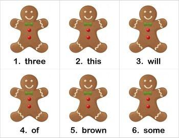 Gingerbread Man Hunt for Sight Words | Christmas | Pinterest