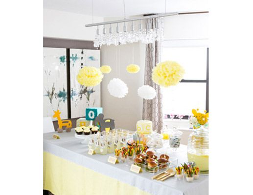 modern baby shower ideas