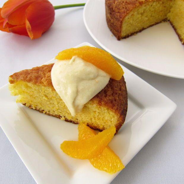 Orange cornmeal cake | Yum | Pinterest