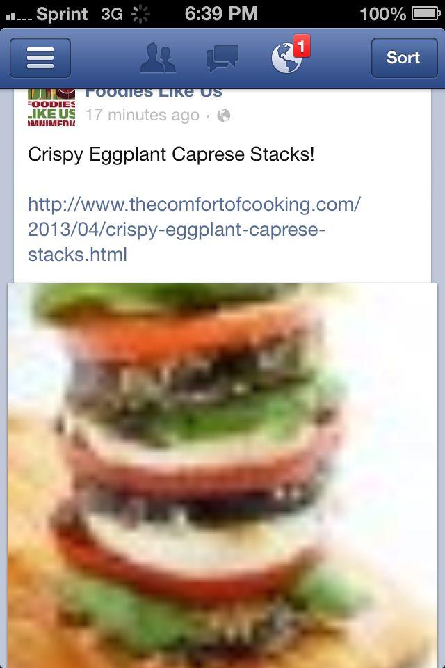 Eggplant caprese   Culinary Delight   Pinterest