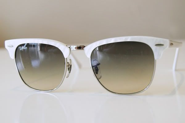 white clubmaster ray ban  ray ban clubmaster sunglasses white