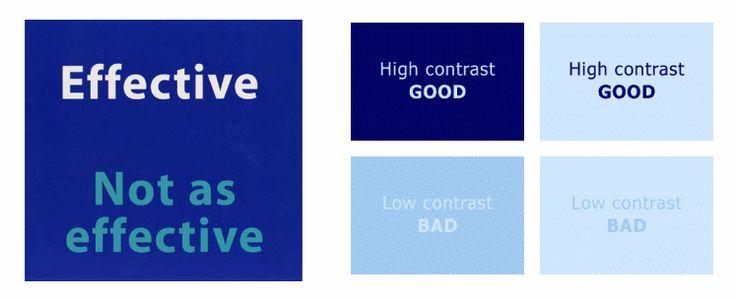 技巧二:提供合適的可閱讀性與對比度
