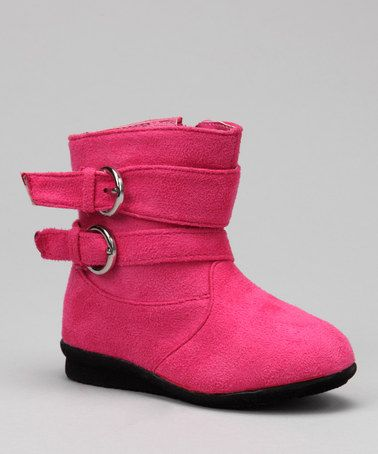 Take a look at this Peach Buckle Boot by Luna Shoes on #zulily today!