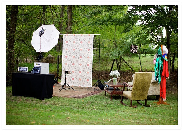 Photo booth set up for wedding photograghy props photo for Wedding photography setup