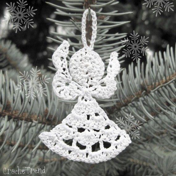 Free Crochet Patterns Angel Ornaments : FREE CROCHET PATTERN Little Angel Christmas Ornament