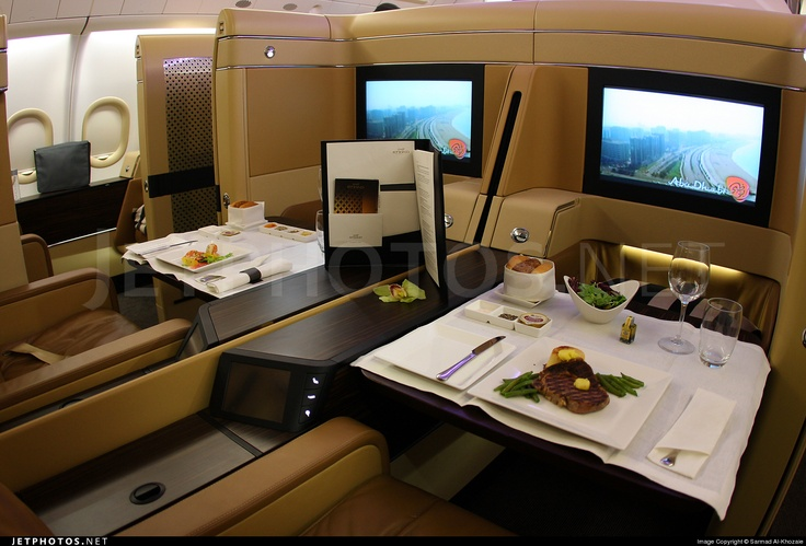 Etihad Airways Airbus A340 first class reservation email sales     Etihad Business Class A340