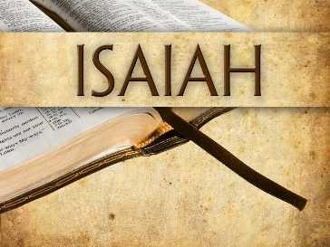bible commentary isaiah