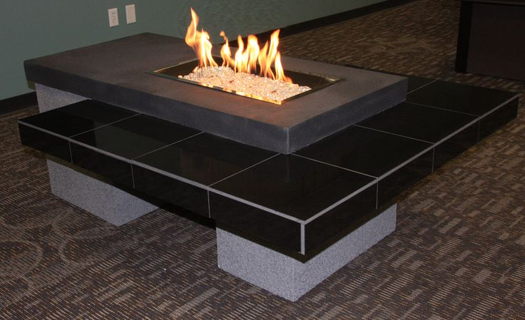 Modern Gas Fire Pit Table Outdoor Fireplace Pinterest