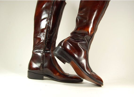 Mens Tall Leather Boots | Santa Barbara Institute for