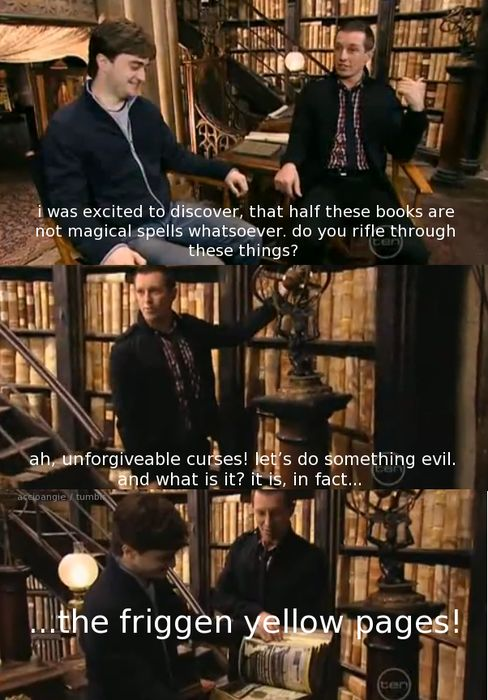 all the books are just under enchantments so Muggles can't read them, duh