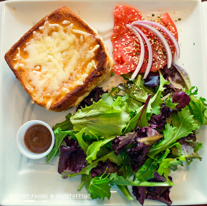 Croque Monsieur...a ham and cheese toasted sandwich
