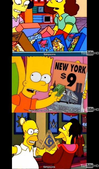 Acabar com os Illuminati - Simpsons 911 / referências freemason