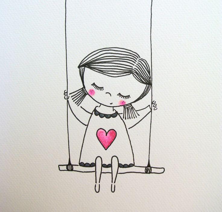 рисунки для срисовки карандашом девочек