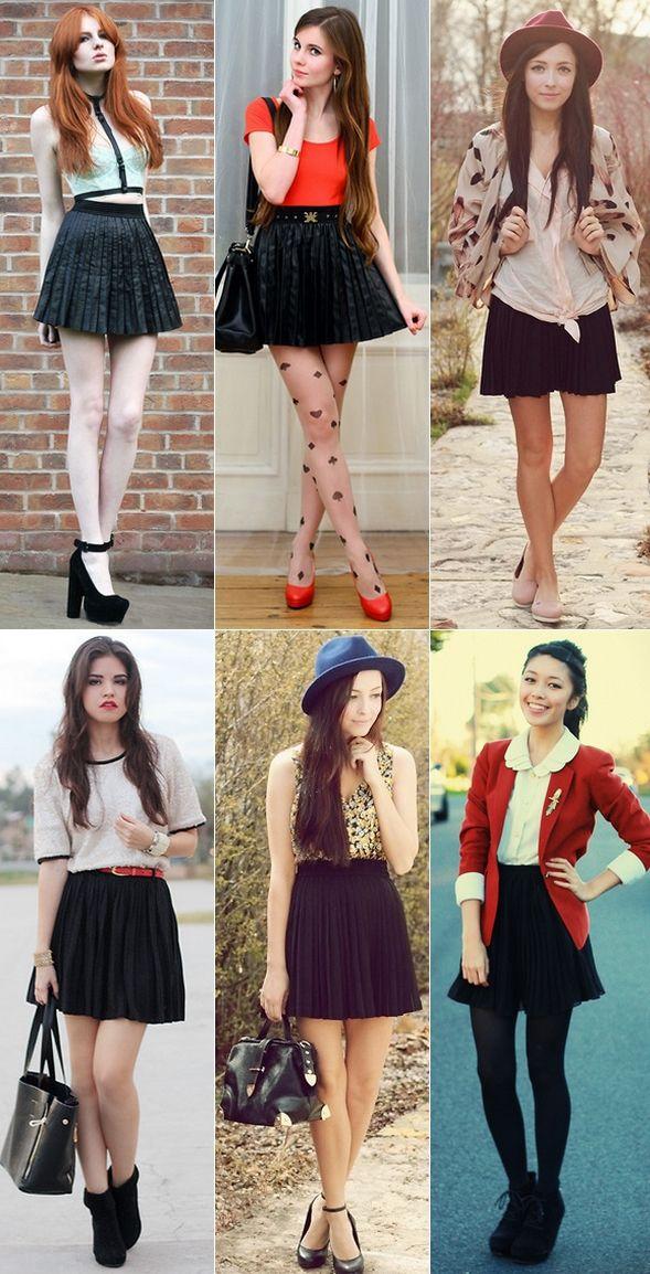 como usar saia plissada