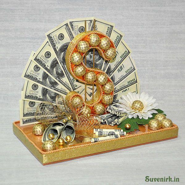 Доллар из конфет своими руками