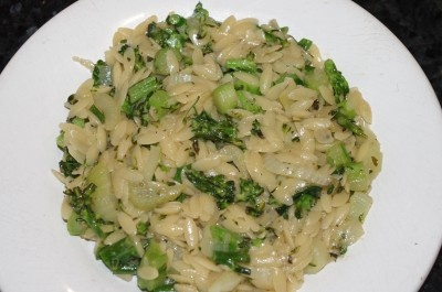 love broccoli and orzo, so this recipe is perfect. Very satisfying.