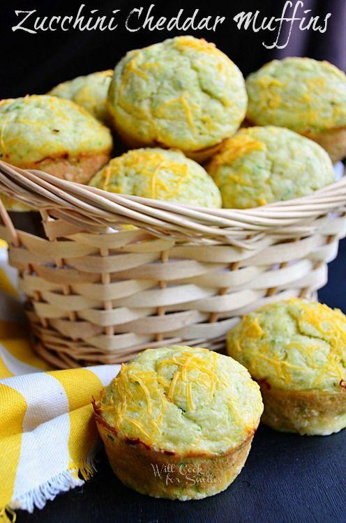 Cheddar-Zucchini Muffins 1 (c) willcookforsmiles.com #muffin