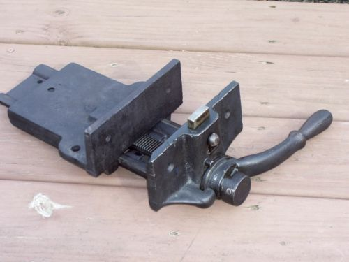 Old Antique Woodwork Bench Vise Wood Vise Quick Set & Release Works G ...