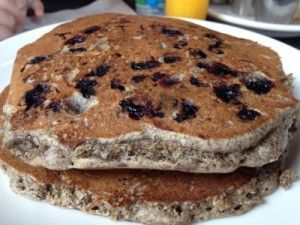 Gluten-Free, Vegan Blueberry Buckwheat Pancakes