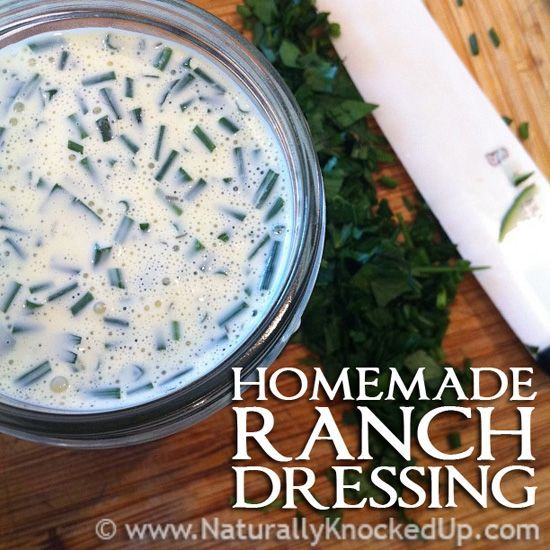 Homemade ranch dressing | Recipes | Pinterest