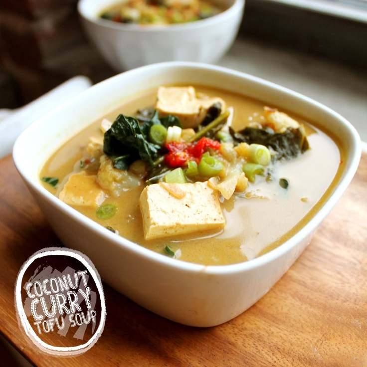 coconut curry tofu soup | Vegan Yumminess | Pinterest