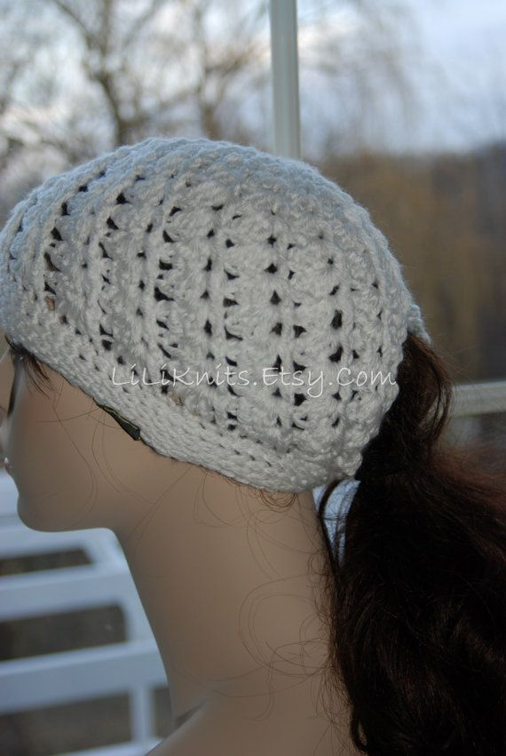 Crochet Ponytail : Crochet Ponytail Hat Beanie Cap Girl/Woman/Child by LiLiKnits, $20.00