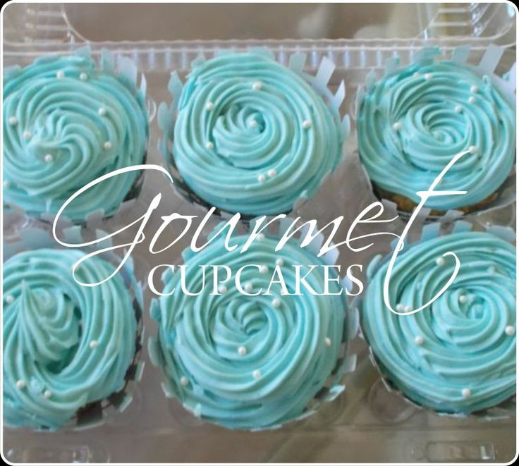 Baby shower Baby blue cupcakes