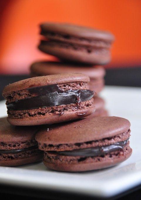 chocolate macarons | Marvie Macarons | Pinterest