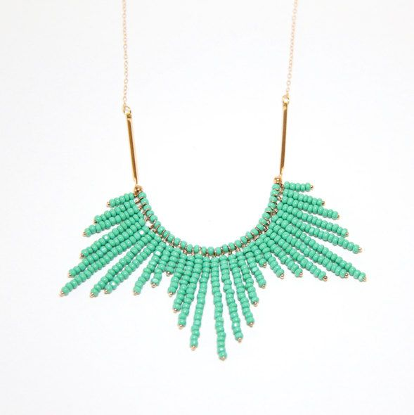 turquoise sunburst necklace by Ayofemi